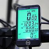 Fahrradcomputer von OriGlam, kabelloser Fahrrad-Tacho, viele Funktionen, wasserdicht, Kilometerzähler mit großem LCD-Display