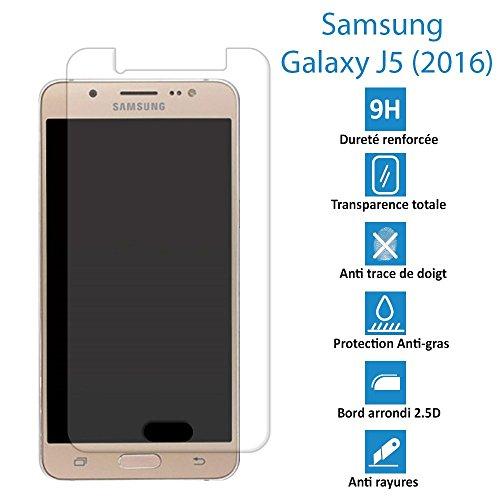 SAMSUNG GALAXY J5 (2016) - Véritable vitre de protection écran en Verre trempé ultra résistante - Protection écran