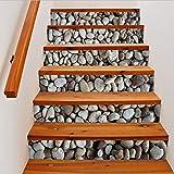 Treppenaufkleber Schöne Steine   3D Effekt 6 Stücke Diy Schritte Aufkleber Abnehmbare Treppe Aufkleber Wohnkultur 18 * 100 Cm Landschaft Aufkleber