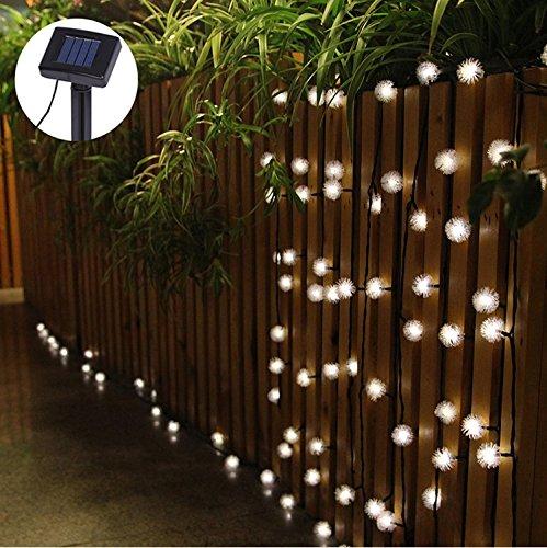 Uping® Solar Lichterkette 20 led Globe Chuzzle Schneeball für Party, Garten, Weihnachten, Halloween, Hochzeit, Beleuchtung Deko in Innen und Außenbereich usw. Wasserdicht 4.5M warm weiß