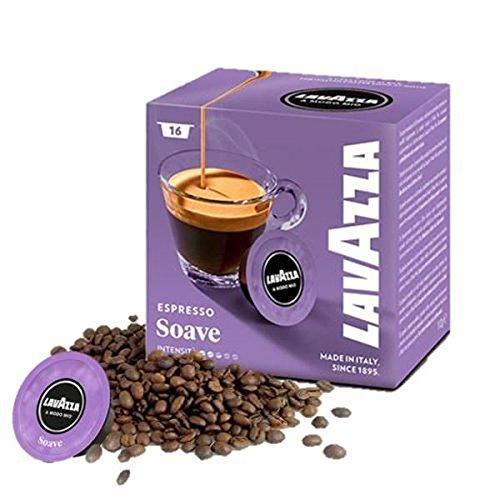 Mode Salbei (Lavazza Modo Mio Espresso Soave Kaffeemaschine Kapseln Packung 16 Pods 16 boxe)