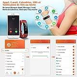 Mpow Fitness Armband mit Pulsmesser,Wasserdicht IP67 Smartwatch Fitness Uhr Pulsuhren Fitness Tracker Aktivitätstracker Schrittzähler Uhr für Damen Herren Anruf SMS Beachten für iPhone Android Handy - 4