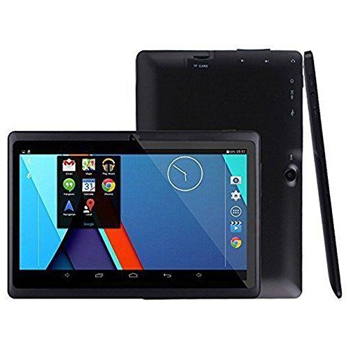 TianranRT 7 Zoll Google Doppelkamera WiFi Bluetooth Android 4.4 Viererkabel-Kern-Tablette PC 1GB + 8GB (Schwarz)