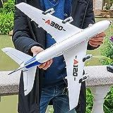 Ycco RC Drone Boeing A380 Avion 2.4G 3CH EPP Jouets Volants, Avion avec 6 Axes Gyro Fixe Envergure Light Bar DIY RC Avion RTF à Distance de contrôle Jets de stabilité Jouets for Les débutants Enfants