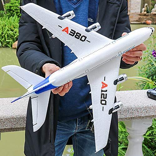 Kikioo 2.4G 3 canales aire libre Airbus A380 Avión