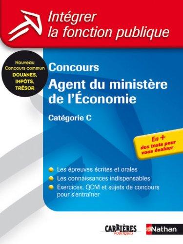 CONCOURS AGENT MINIST ECONOMIE
