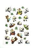 Panda Aufkleber Kinder / Kinder Etiketten für party taschen , scrap bücher , karten herstellung oder notizbuch dekoration