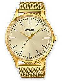 7eb8fe5ff47 Casio Reloj Analogico para Unisex de Cuarzo con Correa en Acero Inoxidable  LTP-E140G-