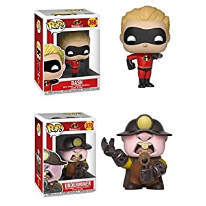 FunkoPOP Incredibles 2 Dash Underminer Stylized Disney Pixar Vinyl 2 Figure Bundle Set NEW