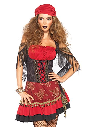 Leg Avenue 85381 - Mystic Vixen Damen kostüm , Größe S/M  (EUR 36-38) (Zigeuner Kostüm Kopftuch)