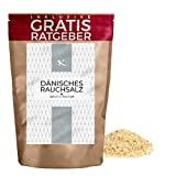 250 g de sal Danesa / Sal ahumada danesa | Vikinga o Dinamarca | En escamas o gruesa | Ingrediente para hacer guisos | Para sazonar ensaladas/ condimento esencial de la cocina para muchas recetas para Lentejas, Pescados y mariscos o Carnes