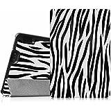 Fintie Amazon Kindle Fire HDX 7 Funda - Ultra Slim Smart Case Funda Carcasa con Stand Función y Auto-Sueño / Estela para Amazon Kindle Fire HDX 7.0 Pulgadas 2013 Generación Tableta, Zebra