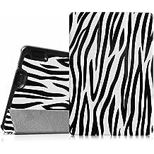 """Fintie Amazon Kindle Fire HDX 7"""" Smart Shell Case Cover Schutzhülle Tasche Etui Hülle Ultra Slim Lightweight mit Auto Schlaf / Wach Funktion, Zebra"""