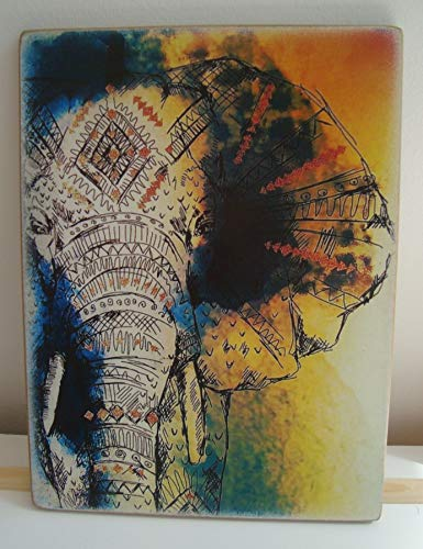 Enid18Bru Placa de Elefantes de Elefante Placa de Animales de la Vida...