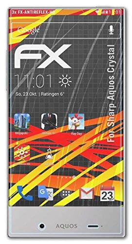 atFolix Folie für Sharp Aquos Crystal Displayschutzfolie - 3 x FX-Antireflex-HD hochauflösende entspiegelnde - Screen Crystal Protector Sharp