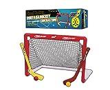 Porta Hockey, Porta da Hockey, Porta per Hockey, con Due bastoni Colorati e Due Palline, Facile assemblaggio, Hochey su Strada, 2 Mazze Colorate e 2 Palline Diametro 5 cm Incluse nella Confezione.