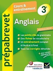 Anglais 3e - Prépabrevet Cours & entraînement: Cours, méthodes et exercices brevet - Troisième