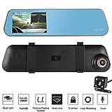 Dual Lens Dash Cam, ICOCO Auto Driving Recorder Dashboard Kamera Auto DVR 4.3