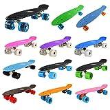 "Yorbay® 22"" Retro Skateboard Mini Cruiser Board Komplett Fertig Montiert"