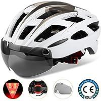 8d57899f4e Casco bicicleta/Casco Bicic con luz,Certificado CE, casco bicicleta adulto  con Visera