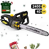 Best Electric Chainsaws - TECCPO Chain Saw, 2400W Corded Electric Chain Saw Review