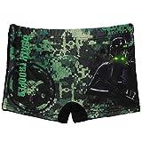 Badehose / Badeshorts -  Star Wars - Darth Vader  - Größe 6 bis 7 Jahre - Gr. 122 bis 128 - für Jungen Kinder Badepants - Boxershorts Shorts mit Bein - Pant..