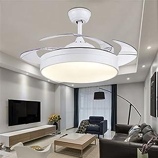 MMYNL Unsichtbare Lüfter Einfache Deckenventilator Mit Lampe Für Wohnzimmer  Esszimmer Slim Lüfter Hängeleuchten Schlafzimmer, Moderne
