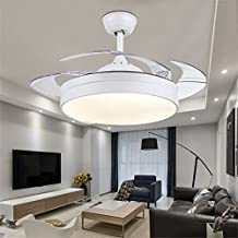 mmynl invisible simple ventilador ventilador de techo con lmpara para sala comedor ventilador slim luces colgantes