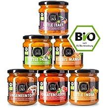 """Little Lunch Bio Suppen im Glas 6 x 350 ml /""""Lieblingsbox Vegan"""" / 6 vollwertige Mahlzeiten/Ohne Geschmacksverstärker/Ohne künstliche Zusätze"""