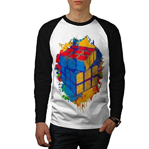 cube-jeu-couleur-torsion-homme-nouveau-blanc-avec-manches-noires-xl-base-ball-manche-longue-t-shirt-