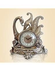 Reloj Reloj cisne viviendo cristal antiguo acrílico Decoración de resina reloj de mesa 34 * 24,5 * 38 cm 12 cm de línea directa , 2
