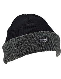 Thinsulate - Hommes - Bonnet de ski tricot thermique revers avec doublure Thinsulate (40g) hiver