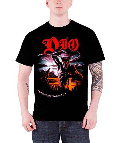 Dio T Shirt Holy Diver Ronnie James R.I.P. Band Logo Offiziell Herren Nue (E I James)