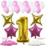 Konsait 40Inch número 1 Foil Globos Gigantes y globos en forma d