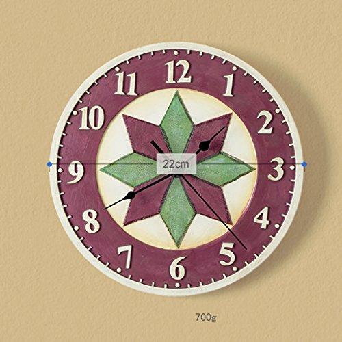Puzzle Antiquitäten (DRM Wanduhr Modernes Schlafzimmer Wanduhr Idyllisch Kreatives Uhrwerk Puzzle Runde Mute)