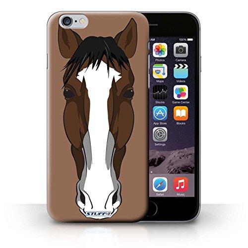 iCHOOSE Hülle / Hülle für Apple iPhone 4/4S / harter Plastikfall für Telefon / Collection Schnauzen / Hund / Bulldog Pferd