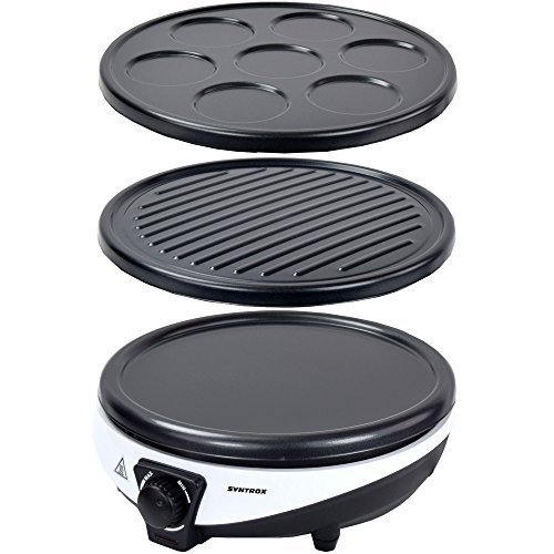 Syntrox Germany Luzern 3 in 1 Crepemaker Pancakemaker Grill