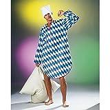 NET TOYS Bayerisches Nachthemd Lustiges Shirt Bayern Outfit blau-weiß Kostüm Oktoberfest Schürze Hemd kariert