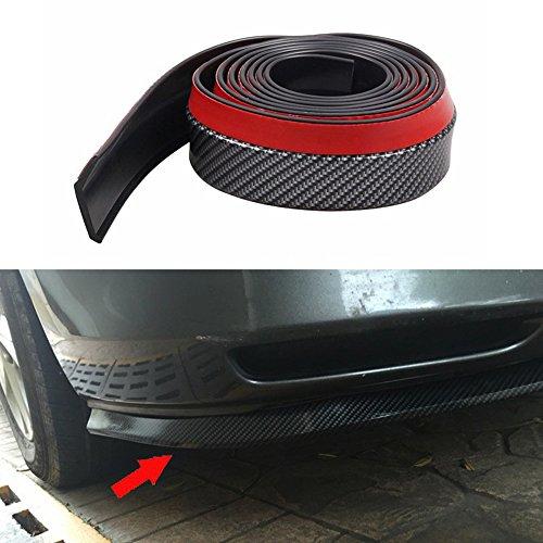 inebiz 2,5m Auto vorne Carbon Faser Bumper Gummi Displayschutzfolie Lip Splitter Body Spoiler
