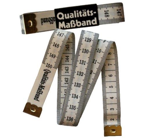 Qualitäts - Maßband / 150 cm weiß