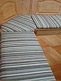 bequemer-sitzen Eckbank-Auflagen Landhaus grün (110 cm)
