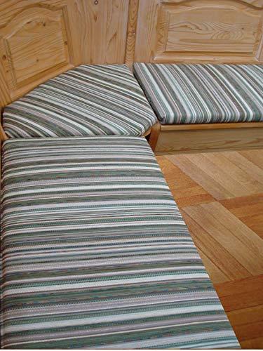 bequemer-sitzen Eckbank-Auflagen Landhaus Fleckerlteppich grün (110 cm)