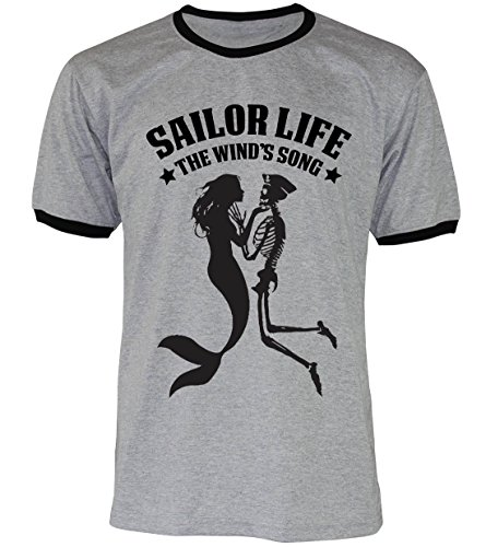 PALLAS Unisex's Anchor Sailor Life Vintage Funny T Shirt GREY2