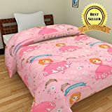 TRUSTFUL Magic Princess Cartoon Kids Design Print Single Bed Reversible AC Dohar | Comforter | Blanket | Duvet | Quilt (Polycotton, Multicolor)