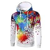 BaZhaHei Männer O Neck Männer Langarm Digital Print Hoodie Kapuzen-Sweatshirt Tops Mantel Outwear Lange Ärmel 3D Digital Druckkopf mit Kapuze Sweatshirt