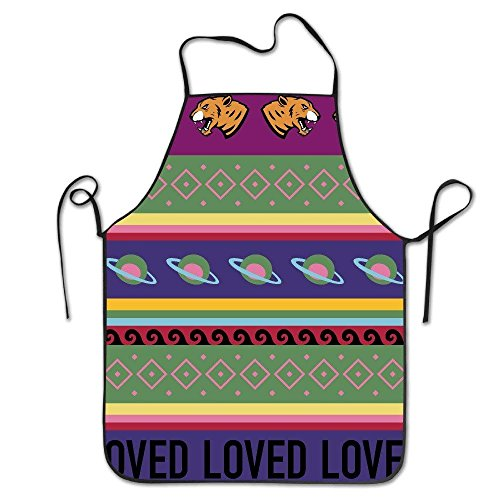Changshpoing Bib Apron for Women Men Adults Waterproof Natural Tiger UFO Loved Cool