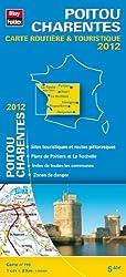 Poitou Charentes, Carte Régionale Routière Touristique N°110. Plan du centre-ville de Poitiers - Echelle : 1/200 000, avec index - Edition 2012