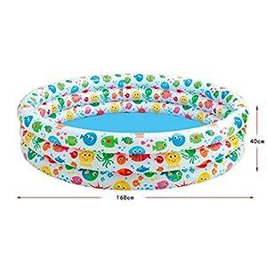 FACAI888 Piscina gonfiabile / 3 anello peschiera posto bambino / cilindro gonfiabile ispessita piega adulto / bambino vasca da bagno gonfiabile / colore