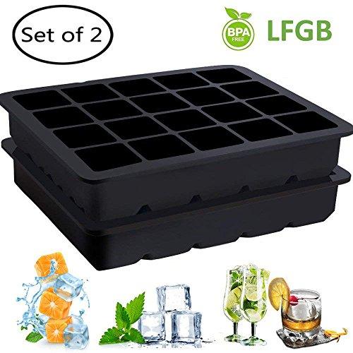 Gekühlte Arbeitsplatte (YECO Eiswürfelformen, Silikon Eiswürfelformen, 2er Set-2.5cm Würfel Eiswürfel,Chill Eiswürfelform,Eiswürfelbereiter, Silikonform ohne BPA)