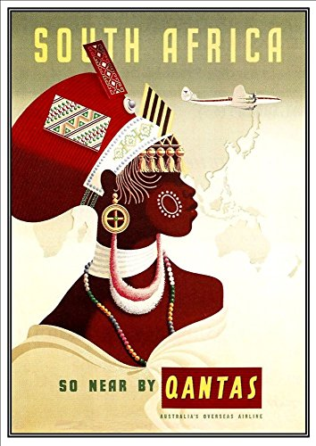 qantas-south-africa-wonderful-a4-glossy-art-print-taken-from-a-rare-vintage-travel-poster